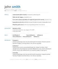 Sample Free Resume Templates Primer Word Document Download Online