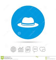 Top Hat Sign Icon Classic Headdress Symbol Stock Vector