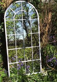 garden mirrors. Simple Garden Tall Curved Arch Top Metal Garden Mirror Intended Mirrors C
