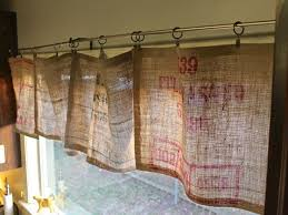 beautiful no sew burlap curtains 20 cute diy projects with burlap kitchen window