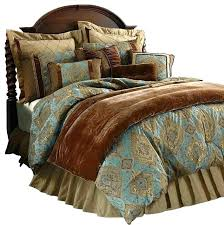 blue and brown bedding sets chocolate bedding sets king turquoise and brown comforter set s s turquoise
