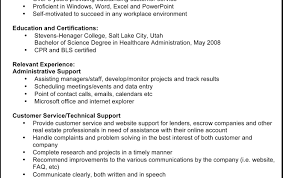 Resume Example Format Of Resume Government Resume Sample