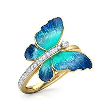 Infinity <b>Jewellery 925</b> Sterling Silver Flare Blue Butterfly Ring For ...