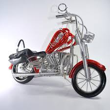 handmade harley davidson aluminium wire art sculpture motorcycle