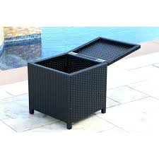 wicker ottoman ikea a terrace furnished with and wicker ottoman furniture