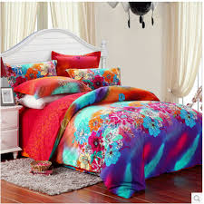 teenage bed sets decor popular luxury modern fl teal queen size teen bedding obqsn072466 1