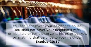 Exodus 20:17 - Bible verse of the day - DailyVerses.net