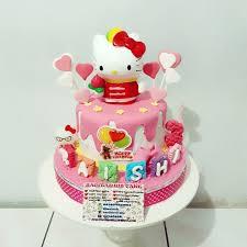 Jual Kue Ulang Tahun Hello Kitty Fondant Cake Jakarta Timur