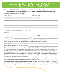 entry form templates contest entry form template sample contest form 7 examples in word