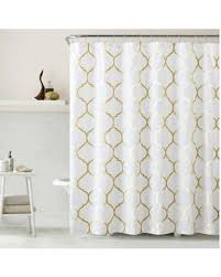 gold and silver shower curtain. vcny metallic ogee shower curtain in gold/white 72\ gold and silver d
