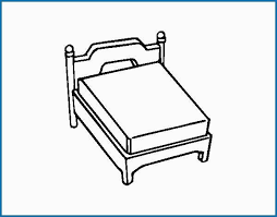 Bed Coloring Page Admirable Queen Bed Without Pillow Coloring Page