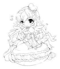 Anime Color Pages Anime Fairy Coloring Pages Cute Anime Girl Color Pages
