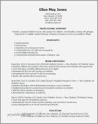 Resume Examples For Emergency Room Nurses Beautiful Sample Nursing