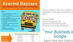 Daycare Flyers Templates Free Professional High Quality Open House