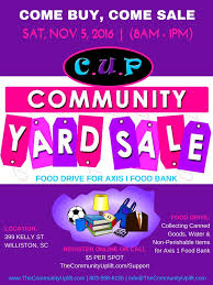 Community Service Fundraiser Cup Community Yard Sale