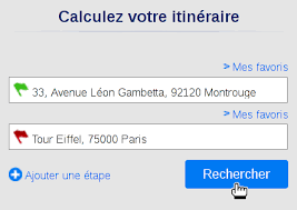 calcul itineraire routier mappy
