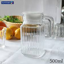 luminarc luminarc glass pitcher 500 ml quadro chador arcoroc pitcher quadro luminal k glass jug jag simple lid and lid france commercial