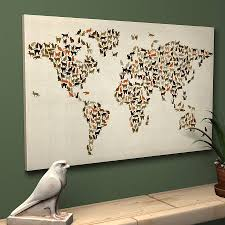 gallery of perfect ideas wall art maps of the world modern designing large canvas