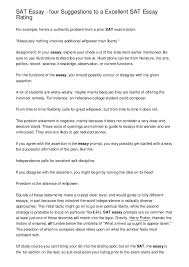 Sat Essay Four Suggestions To A Excellent Sat Essay Rating