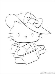 Leuke Kleurplaat Hello Kitty In Een Grote Hoed Gratis Kleurplaten