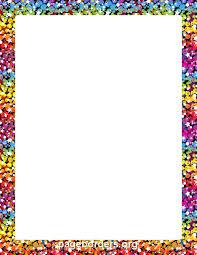 Rainbow Page Border Rainbow Glitter Border Clip Art Page Border And Vector Graphics
