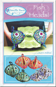 Oven Mitt Pattern Inspiration Fish Heads Oven Mitts Sewing Pattern From Vanilla House Designs