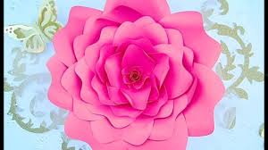 Paper Flower Pattern Beauteous DIY Paper Flower Rose Tutorial And Patterns YouTube
