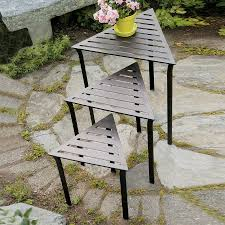 achla designs triangle wrought iron end table achla designs wrought iron