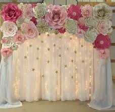 Paper Flower Wedding Backdrops Diy Paper Flower Wedding Backdrop