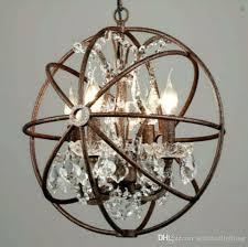 industrial lighting restoration hardware vintage crystal chandelier pendant lamp iron orb rustic gyro loft light instructions