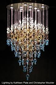 gorgeous recycled glass chandelier by kathleen plate of smart glass c39