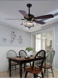 Us 178 88 Ceiling Fan Lamp American Crystal Invisible Household Luxury Living Room Electric Fan Lamp Decorative Ceiling Fan Light In Ceiling Fans