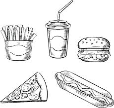 Colouring Pages Of Healthy And Unhealthy Foods Healthy Diet Coloring