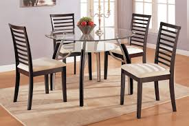Wood And Metal Round Dining Table Round Glass Dining Table Set Dining Room Round Glass Table Set