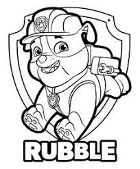 Rubble Paw Patrol Coloring Pages Inspirational Marshall Paw Patrol