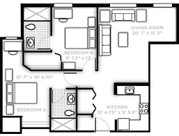 apartment with kitchen living room 2 single bedrooms and 2 bathrooms
