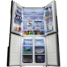 hisense hr6cdff512gb french door refrigerator black glass