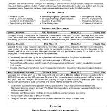 Resume Sample Assistant Restaurant Manager New Resume Examples ...
