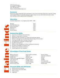 High School Resume Adorable Free Resume Templates For High School Students Babysitting Fast