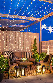balcony lighting ideas. Christmas String Lights And Lanterns Decorate A Balcony, Deck Or Patio. --Lowe\u0027s Balcony Lighting Ideas N