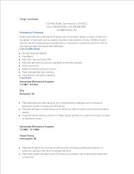 Automotive Engineer Resumes Automotive Mechanical Engineer Resume Sample