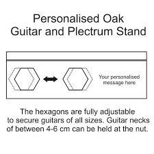 personalised double guitar stand