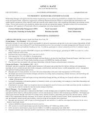 Resume Templates Banking Relationshipanager Example