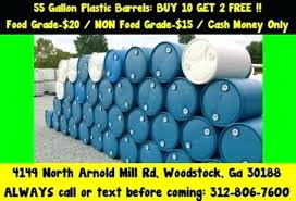 free 55 gallon plastic drum.  Gallon Plastic Poly Rain Water Barrel Drum Barrels Drums Shipping Storage  Container 1 Free Indianapolis On 55 Gallon L