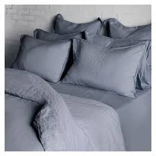 linen duvet cover super king size mediterranean blue