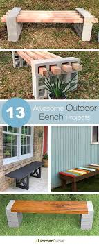 13 awesome outdoor bench ideas