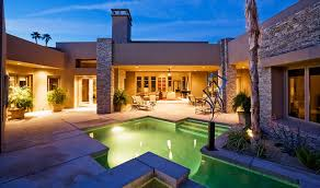 home swimming pools at night. House-exterior-night-lights-designer-swimming-pool-dusk Home Swimming Pools At Night S