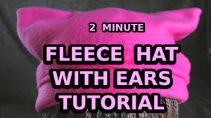 Fleece Cat Hat Pattern Free