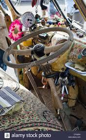 volkswagen van hippie interior. stock photo vw split screen volkswagen camper van wooden interior painted in sixties seventies hippie style