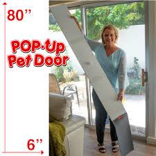 pop up pet door for sliding glass